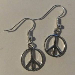 PEACE SIGN EARRINGS - Hippie Boho Festival Fashion